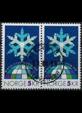 Norvegija, pora MiNr 1037 Used (O) G