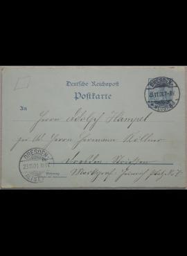 Vokietijos Reichas, 1901m atvirlaiškis