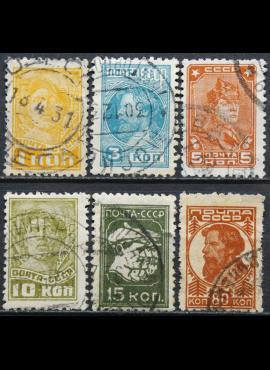 Rusija, TSRS ScNr 413, 415, 417, 419, 421, 426 Used(O) V