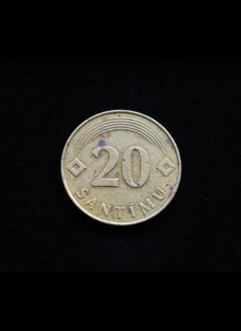 Latvija, 20 santimų 1992m A
