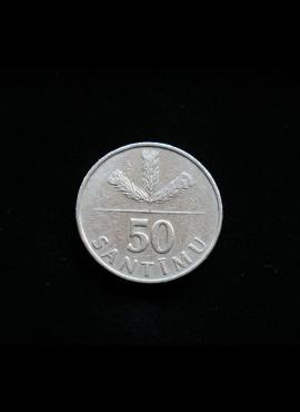 Latvija, 50 santimų 1992m A