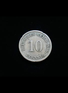 Vokietijos Imperija, 10 pfenigių 1888m-J