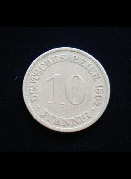 Vokietijos Imperija, 10 pfenigių 1892m-A