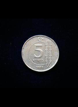 Turkija, 5 kurušai 2011m