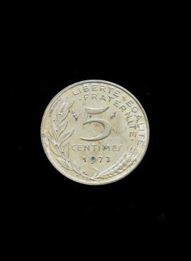 Prancūzija, 5 santimai 1977m