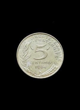 Prancūzija, 5 santimai 1984m