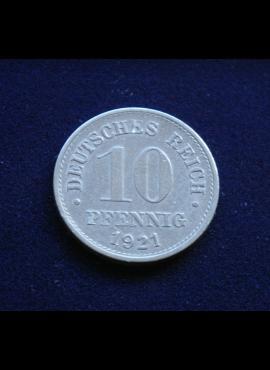 Vokietijos Imperija, 10 pfenigių 1921m