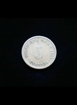 Vokietijos Imperija, 5 pfenigiai 1894m-D