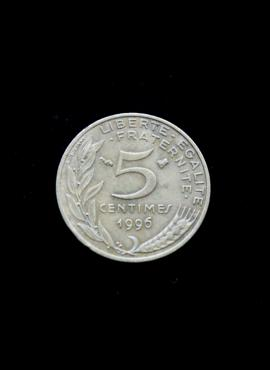 Prancūzija, 5 santimai 1996m