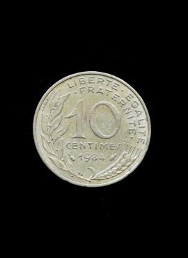 Prancūzija, 10 santimų 1984m