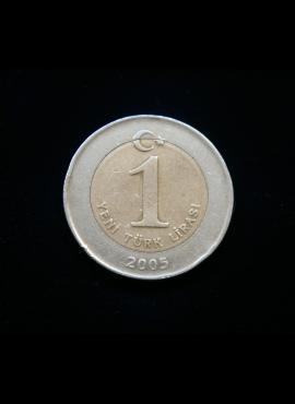 Turkija, 1 naujoji lira 2005m