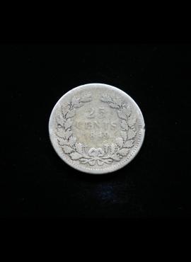 Nyderlandai, SIDABRINIAI 25 centai 1849m E