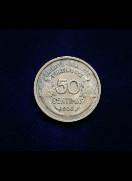 Prancūzija, 50 santimų 1938m