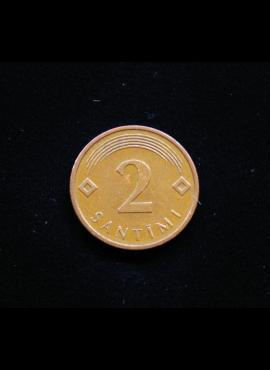 Latvija, 2 santimai 2006m