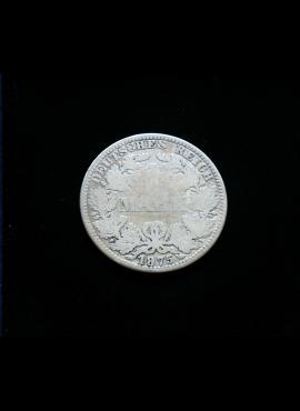 Vokietijos Imperija, SIDABRINĖ 1 markė 1875m-A