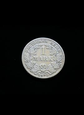 Vokietijos Imperija, SIDABRINĖ 1 markė 1875m-D