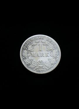 Vokietijos Imperija, SIDABRINĖ 1 markė 1876m-A