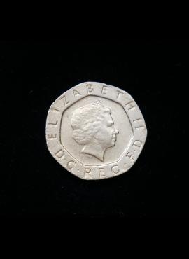 Didžioji Britanija, 20 pensų 2001m