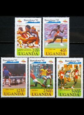 Uganda, pilna serija ScNr 869-873 MNH** V