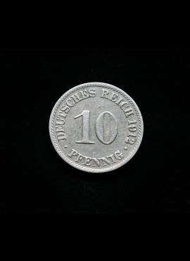 Vokietijos Imperija, 10 pfenigių 1912m-A