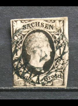 Senoji Vokietija, Saksonija, 1851m. MiNr 4 Used(O) V