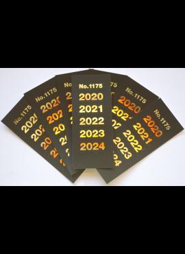 """Kolekcijų albumų metų lipdukai """"2020-2024"""" SAFE 1175"""
