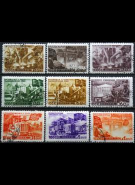 Rusija, TSRS ScNr 1172-1175, 1178-1182 Used(O) V