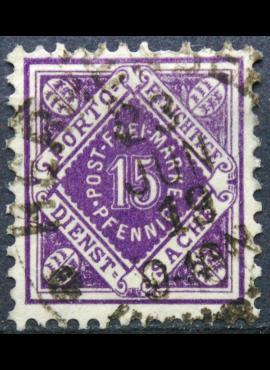 Senoji Vokietija, Viurtembergas, tarnybinis, 1917m, MiNr 131 Used(O)