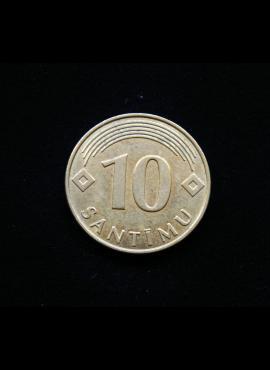 Latvija, 10 santimų 2008m