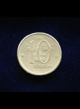 Švedija, 10 kronų 1992m
