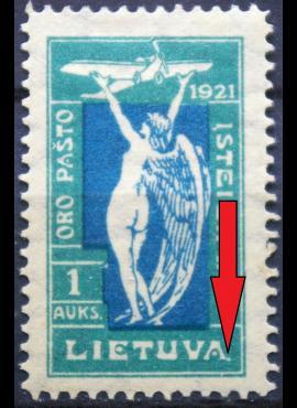 Tarpukario Lietuva, abartas MiNr 113 MLH*