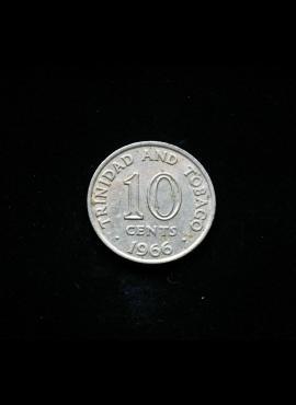 Trinidadas ir Tobagas, 10 centų 1966m