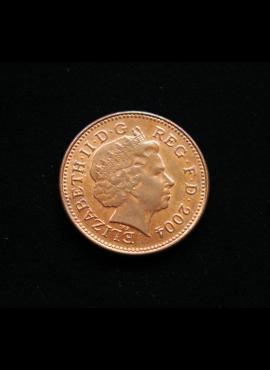 Didžioji Britanija, 1 pensas 2004m