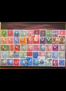 50 vnt. Švedijos pašto ženklų pakuotė HF011