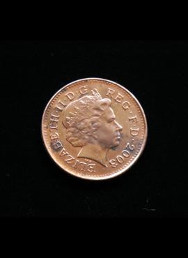 Didžioji Britanija, 1 pensas 2003m