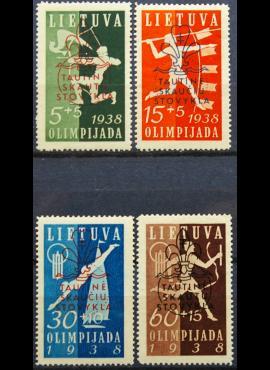 Tarpukario Lietuva, pilna serija MiNr 421-424 MNH**