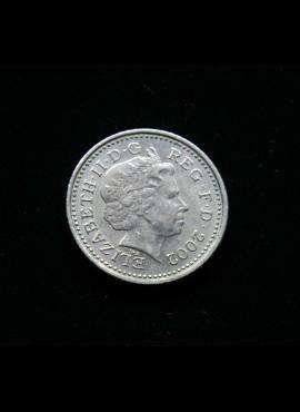 Didžioji Britanija, 5 pensai 2002m