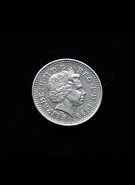 Didžioji Britanija, 5 pensai 1999m