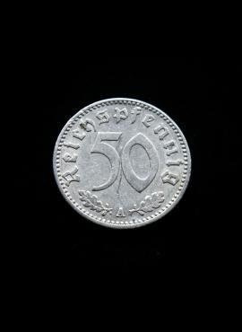 Vokietijos Reichas, 50 reichspfenigių 1939m-A
