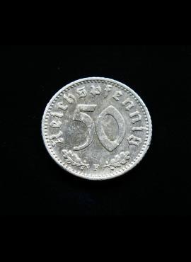Vokietijos Reichas, 50 reichspfenigių 1942m-F