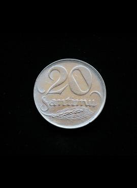 Latvija, 20 santimų 1922m