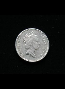 Didžioji Britanija, 5 pensai 1990m