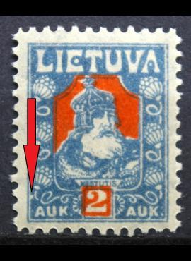 Tarpukario Lietuva, abartas MiNr 96 MLH*