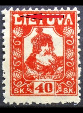 Tarpukario Lietuva, abartas V1 MiNr 91 MLH*
