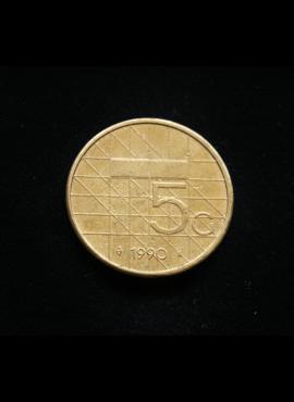 Nyderlandai, 5 guldenai 1990m