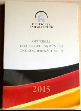 2015m Vokietijos 10 eurų proginių monetų kortelė