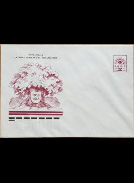 Latvija, 1990m proginis markiruotas vokas G