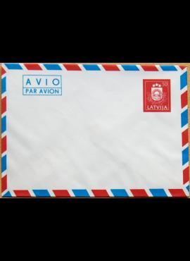 Latvija, 1991m markiruotas, oro pašto vokas G