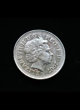 Didžioji Britanija, 10 pensų 2007m