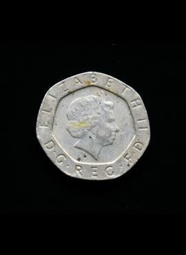 Didžioji Britanija, 20 pensų 2000m